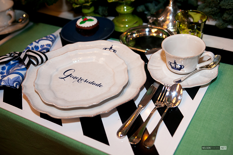 Mesa de Chá de Natal por Maria Barros