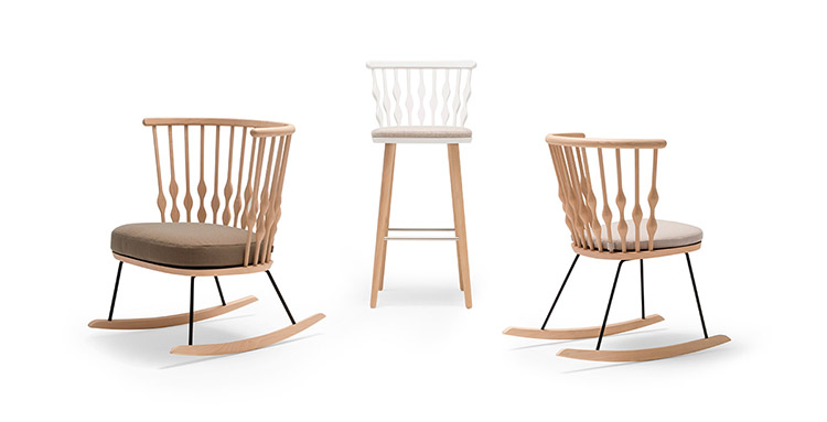 Andreu-World_Nub_stool-and-rocking-chair